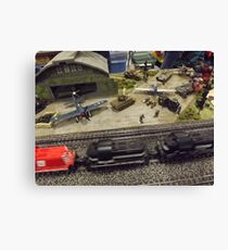 Scale Model Trains, Scale Model Airplanes, Greenberg's Train and Toy Show, Edison, New Jersey  Canvas Print