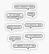 Sticker Pack - BTS Funny quotes Sticker
