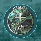 He Lives - Cross by Patricia Howitt