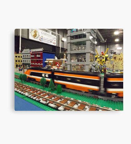 Lego Trains, Lego Buildings, Greenberg's Train and Toy Show, Edison, New Jersey  Canvas Print