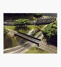 Scale Model Trains, Scale Model Buildings, Greenberg's Train and Toy Show, Edison, New Jersey  Photographic Print