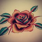 Traditional Rose by JoshConwayArt