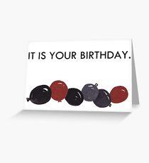 Es ist dein Geburtstag Grußkarte