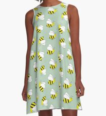 Bumble Bee Pattern A-Line Dress