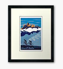 giro d italia Framed Print