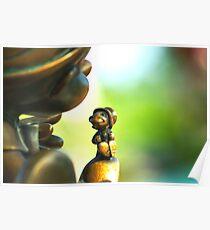 Bronze Pinocchio Poster