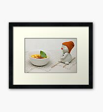 Ice cream with berries of sea-buckthorn  Framed Print