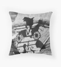 Mr. Toad's Shadow Throw Pillow