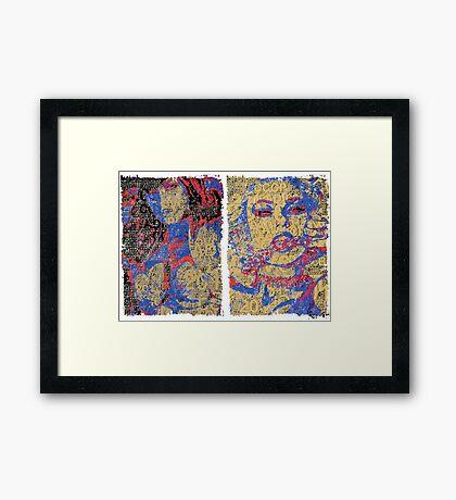 Incarnata Diptych #31 Framed Print