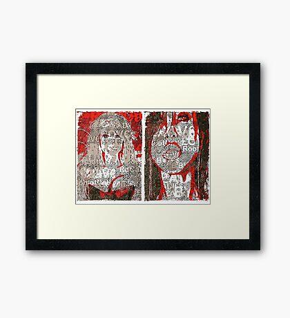 Incarnata Diptych #29 Framed Print