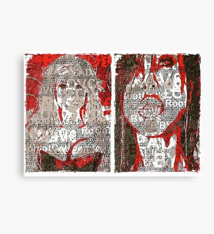 Incarnata Diptych #29 Canvas Print