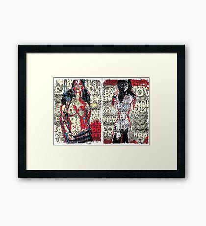 Incarnata Diptych #26 Framed Print