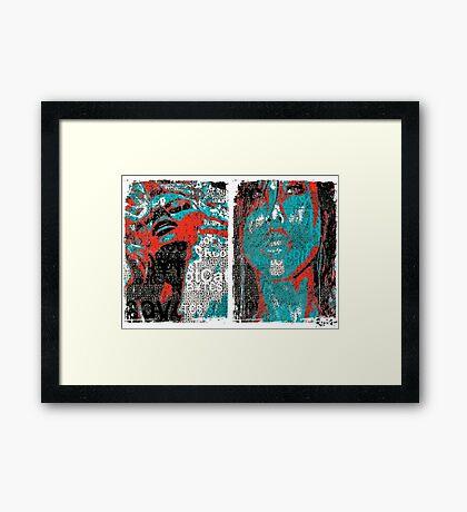 Incarnata Diptych #25 Framed Print