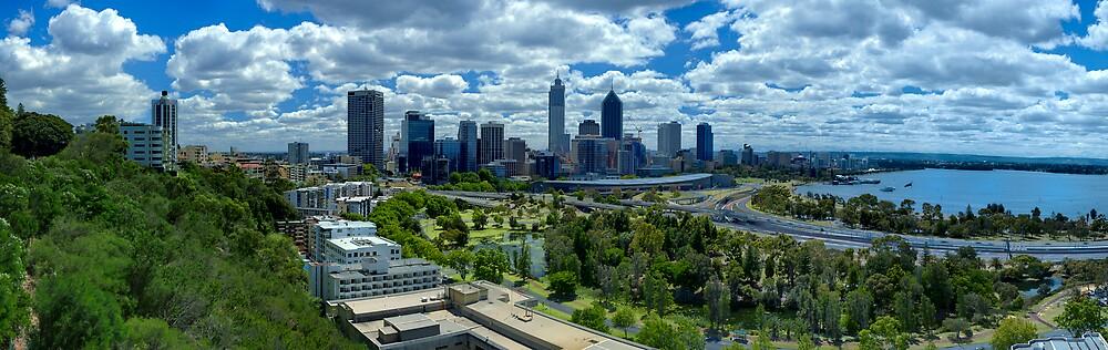 Panorama of Perth from Kings Park by Josha Inglis