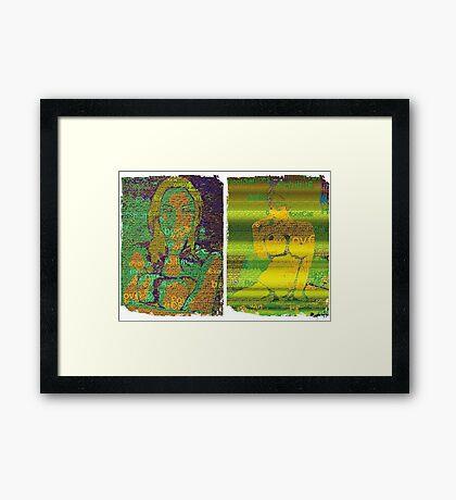 Incarnata Diptych #23 Framed Print