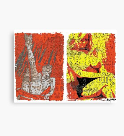 Incarnata Diptych #17 Canvas Print