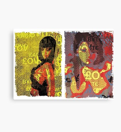 Incarnata Diptych #16 Canvas Print