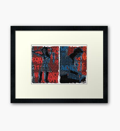 Incarnata Diptych #12 Framed Print