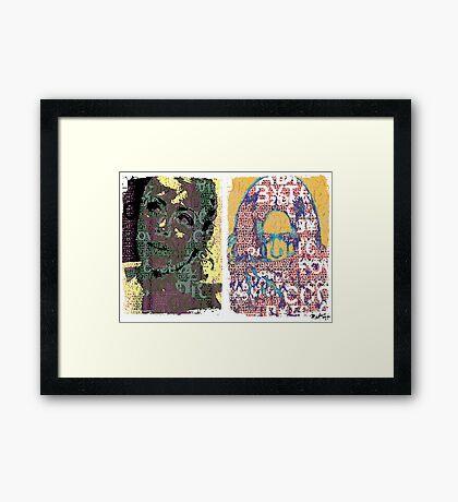 Incarnata Diptych #9 Framed Print