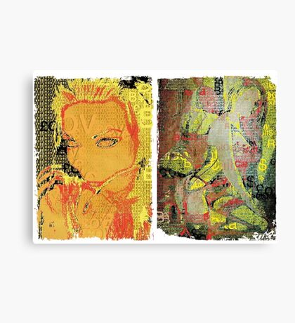 Incarnata Diptych #7 Canvas Print