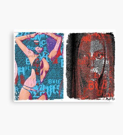 Incarnata Diptych #6 Canvas Print