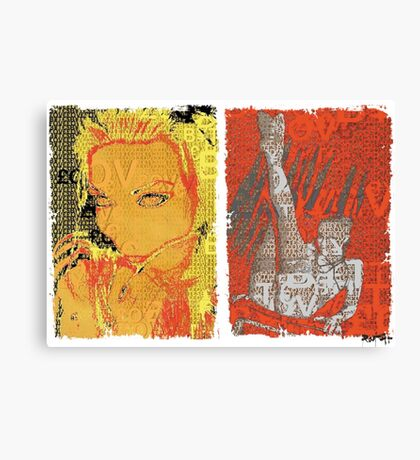 Incarnata Diptych #3 Canvas Print