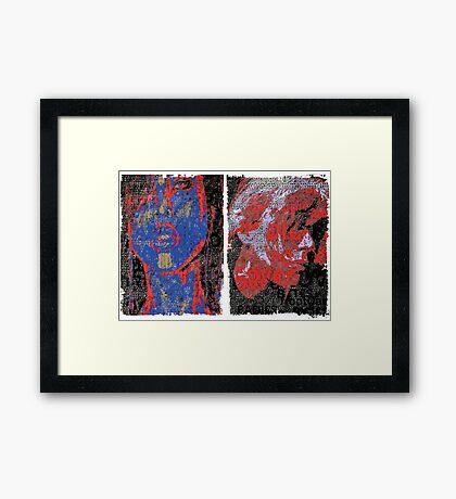 Incarnata Diptych #2 Framed Print