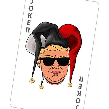 Funny Trump President T-Shirt Joker Jester Hat Playing Card Glasses by philsgiftshop