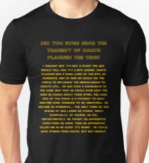 The Tragedy of Darth Plagueis the Wise Unisex T-Shirt