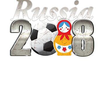 Russia 2018 World Football Cup Men Women Sports Futbol Soccer by philsgiftshop