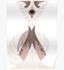 Geometric dogs - Chinese Crested Poster
