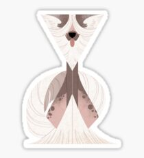 Geometric dogs - Chinese Crested Sticker