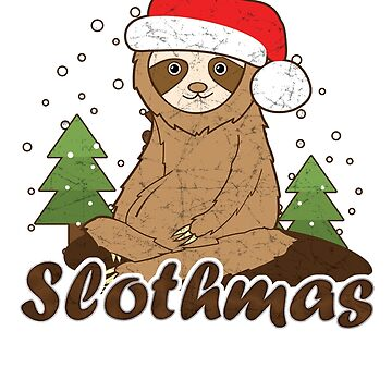 Funny Sloth Shirts Christmas Slothmas Cute Animals Graphic Tee Men Women by philsgiftshop