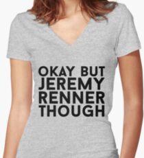 Jeremy Renner Women's Fitted V-Neck T-Shirt