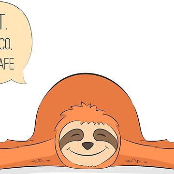 Cute hand drawn sloth by Alisovna