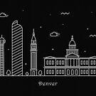 Denver Skyline Minimal Line Art Poster by A Deniz Akerman