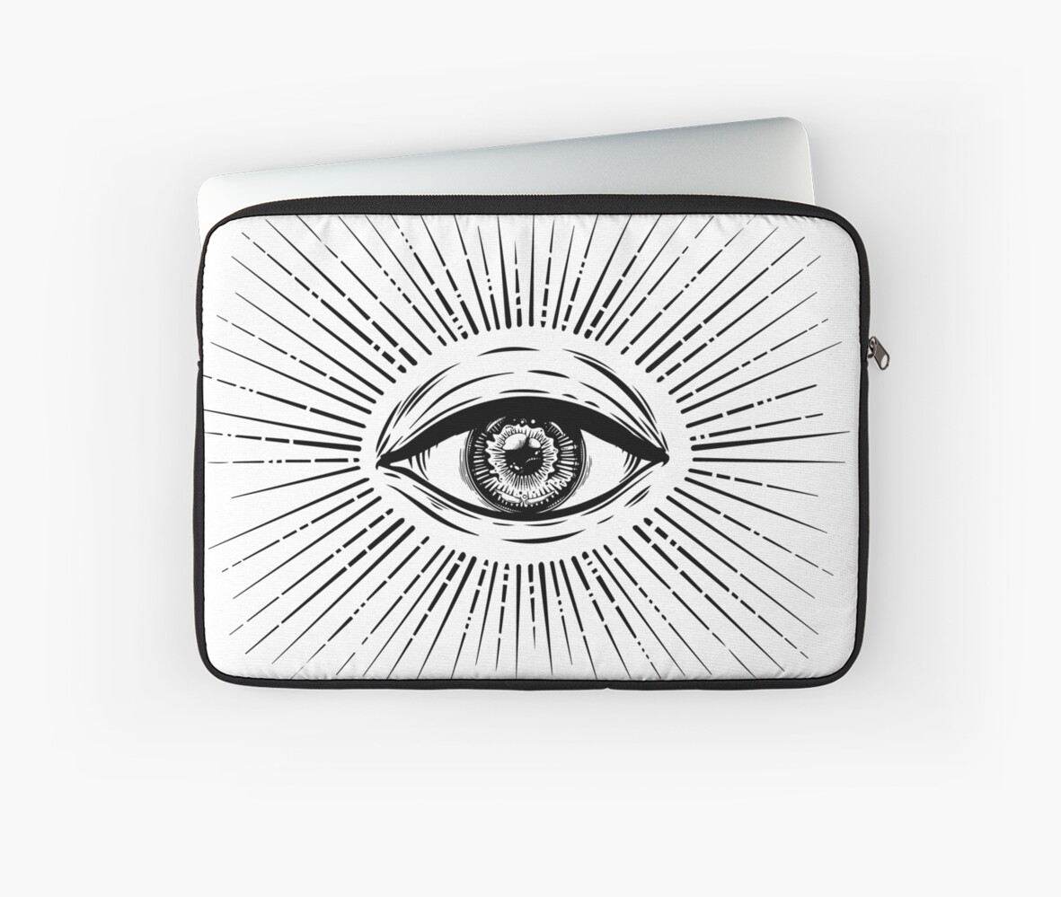 All Seeing Eye Symbol Vision Of Providence Laptop Sleeves By