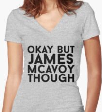 James McAvoy Women's Fitted V-Neck T-Shirt