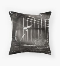 Trouble in the Henhouse Throw Pillow