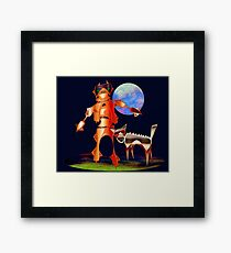 Walking with Robots Framed Print
