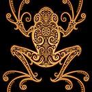 Verwickelter goldener Brown-Baum-Frosch von jeff bartels