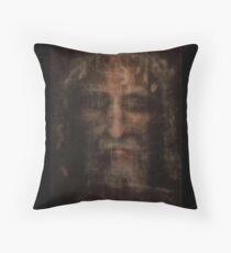 Face of Shroud Throw Pillow