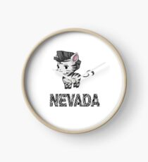 Zebra Nevada Clock