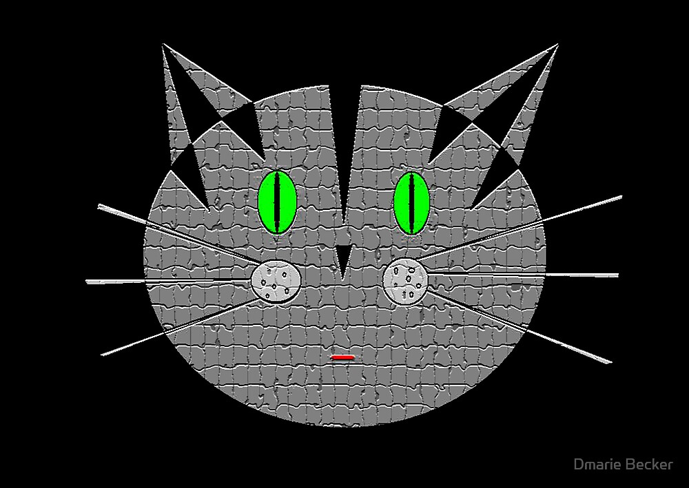 Kute Kitty Meow Meow by Dmarie Becker
