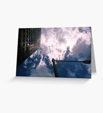 Big City Skyline........lamp post Sydney CBD Greeting Card
