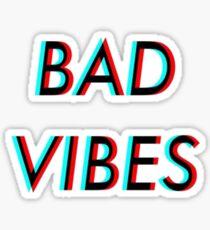 Bad Vibes Trippy Sticker