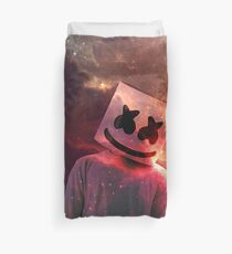 Marshmello Red Galaxy Duvet Cover
