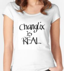 Stray Kids - Changlix is real Women's Fitted Scoop T-Shirt