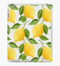 Watercolor Lemon Pattern iPad Case/Skin