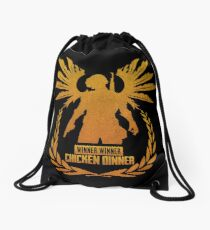 PUBG Chicken Dinner Angel Drawstring Bag